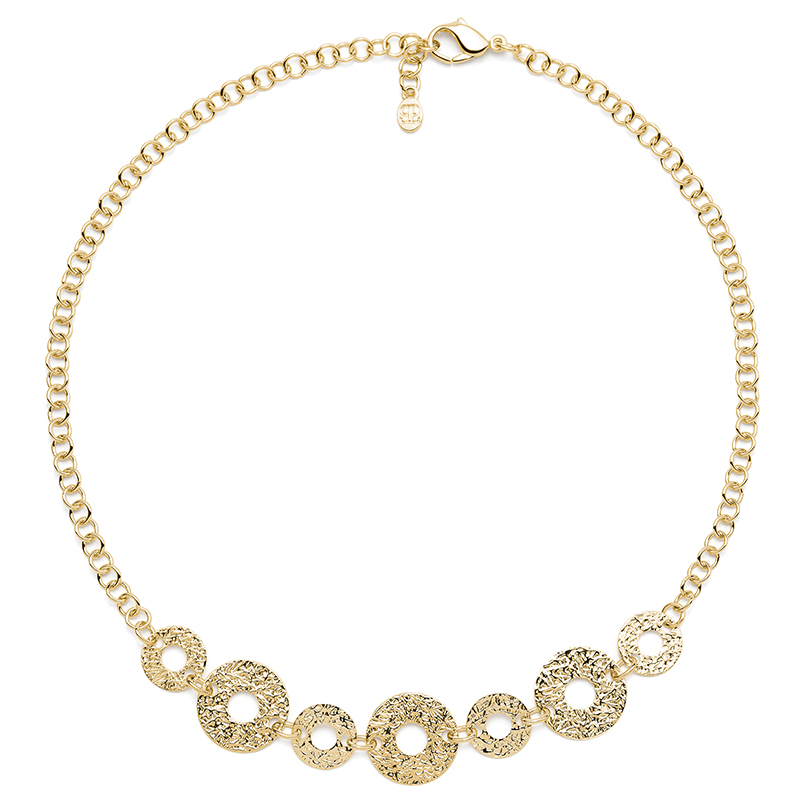 THE KISS Necklace, gold plated
