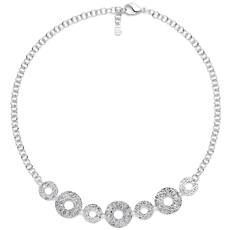 THE KISS Necklace, rhodium plated