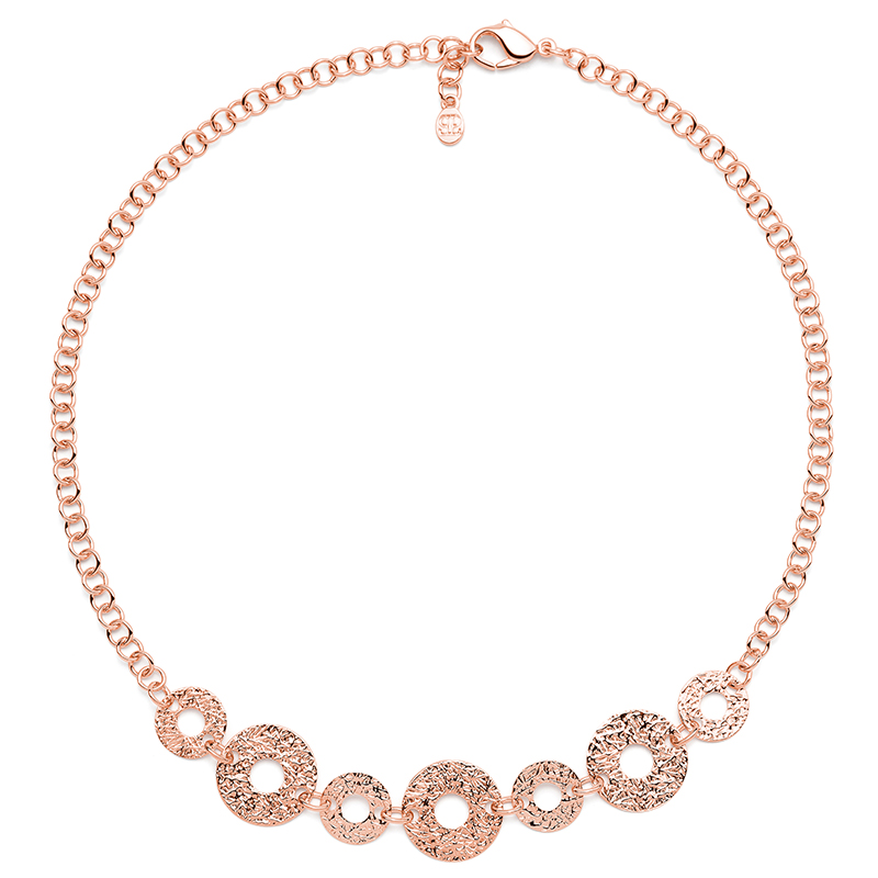 THE KISS Necklace, rose gold plated