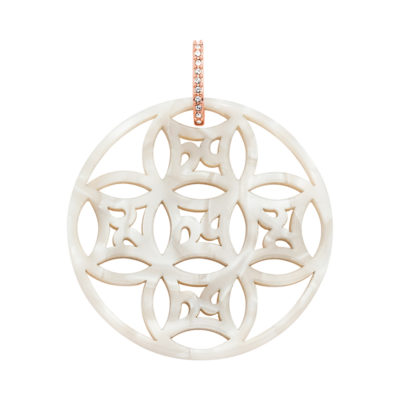 DREAMCATCHER Pendant, rose gold plated, kristall-farbig, permutt