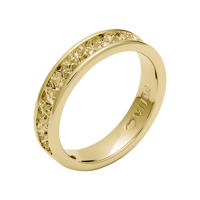 BELLE EPOQUE Ring, gold plated