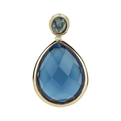 LUXOR Pendant, gold plated, blue