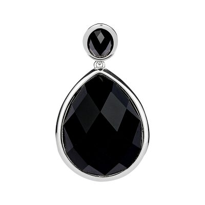 LUXOR Pendant, rhodium plated, black