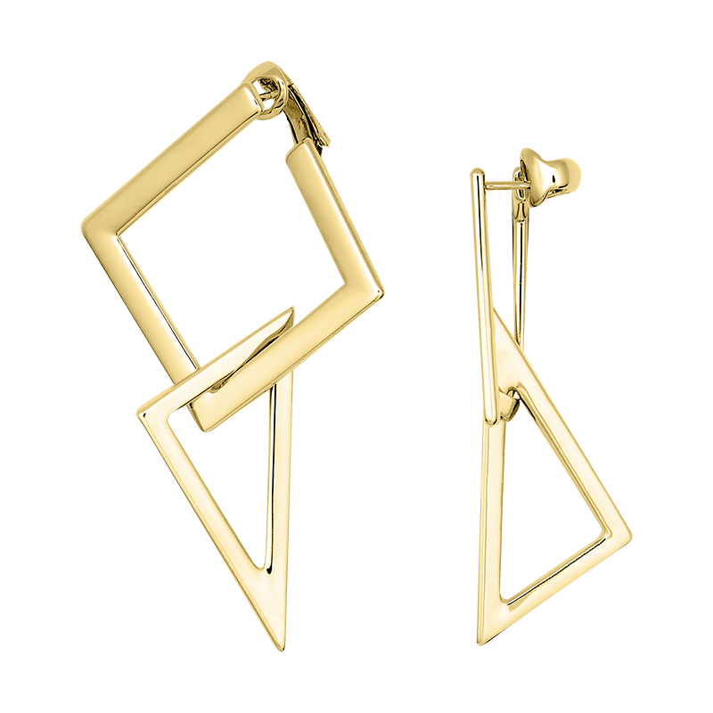 STATEMENT Earrings, gold plated