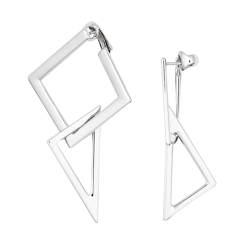 STATEMENT Earrings, rhodium plated