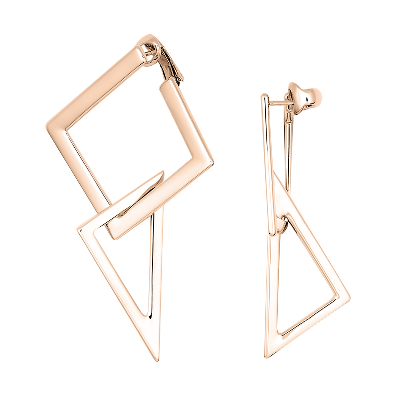 STATEMENT Earrings, rose gold plated