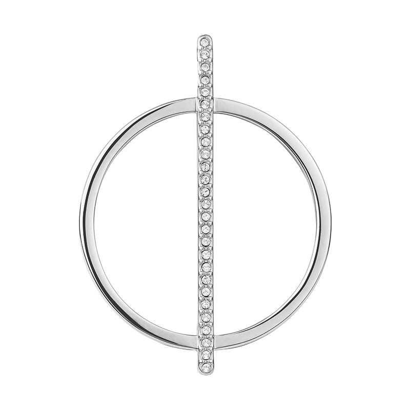 PAGAN DELUXE Pendant, rhodium plated, crystal