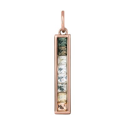 BREEZE Pendant, rose gold plated, multicoloured