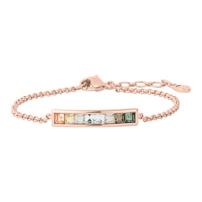 BREEZE Bracelet, rose gold plated, multicoloured