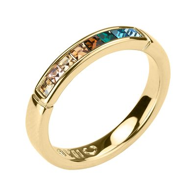 BREEZE Ring, gold plated, multicoloured