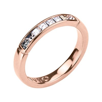 BREEZE Ring, rose gold plated, multicoloured