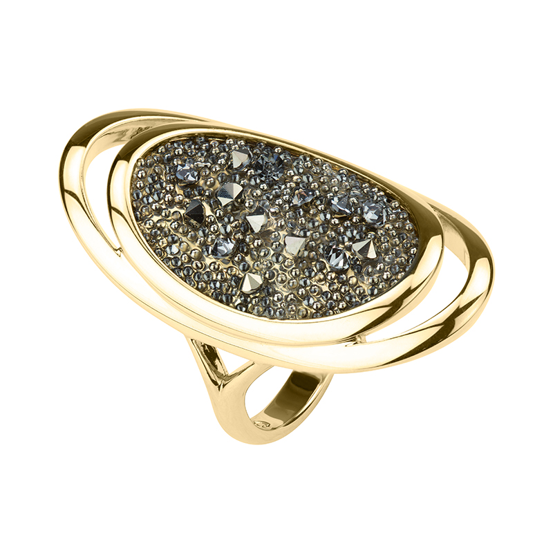 CHARMING HERITAGE Ring, gold plated, metallic light gold