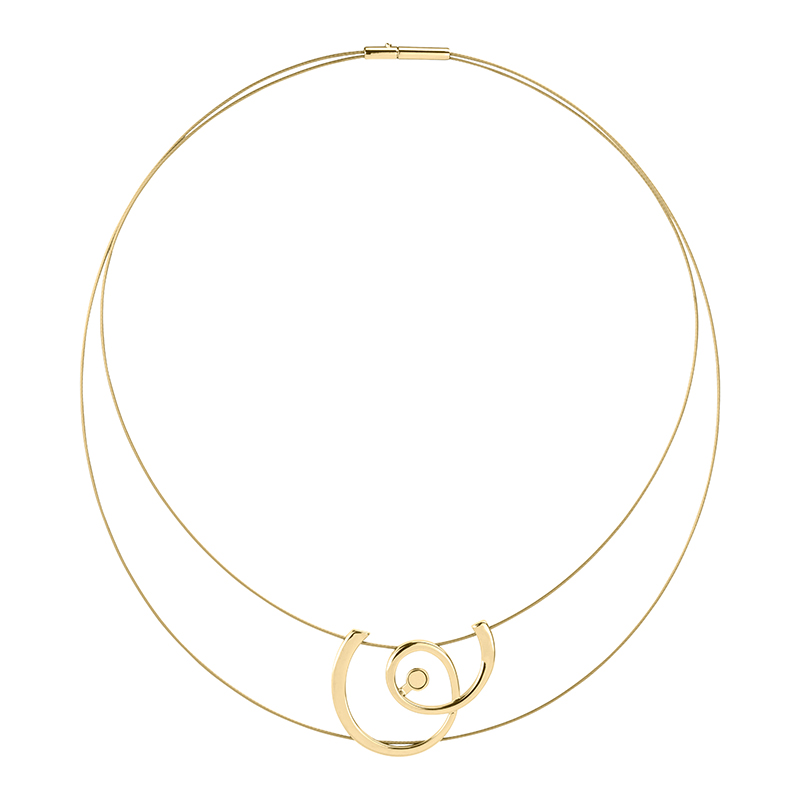 MOMENTUM Collier, gold plated