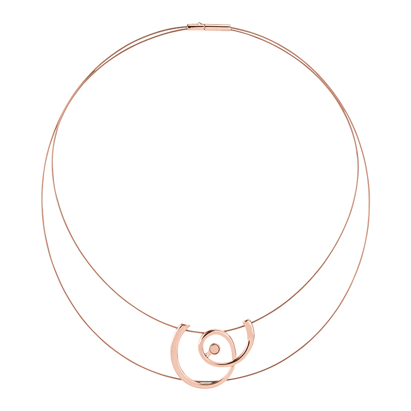 MOMENTUM Collier, rose gold plated