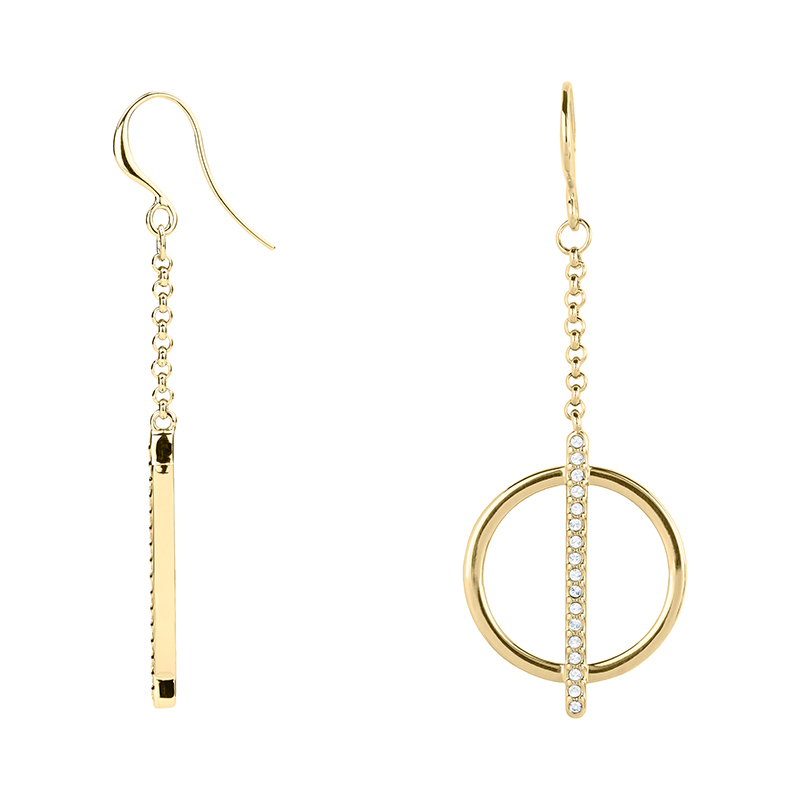 PAGAN DELUXE Earrings, gold plated, crystal