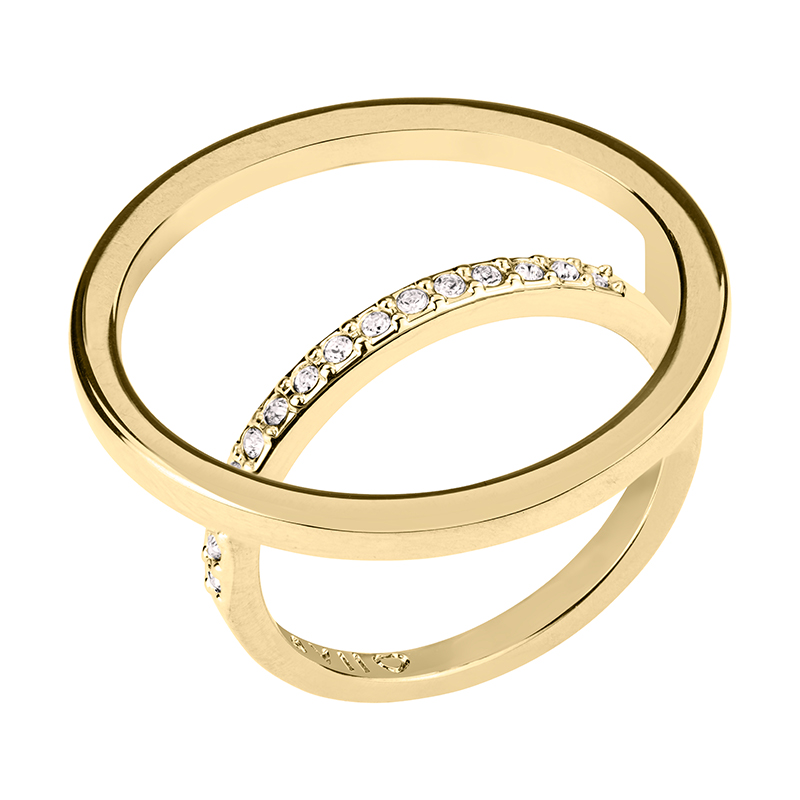 PAGAN DELUXE Ring, gold plated, crystal