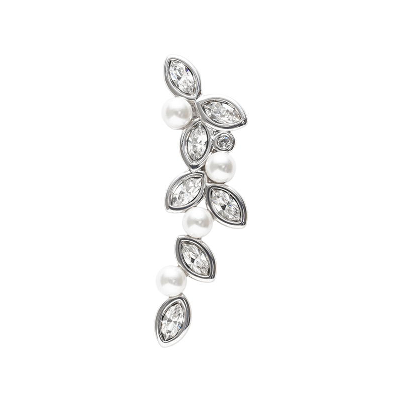 PRIME OF LOVE Pendant, rhodium plated, white, crystal