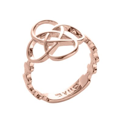 BLOSSOM OF LIFE Ring, rose gold plated