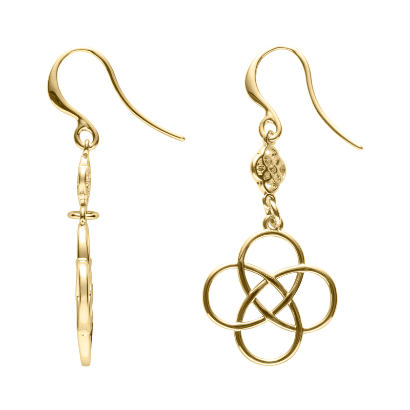 BLOSSOM OF LIFE Earrings, gold plated
