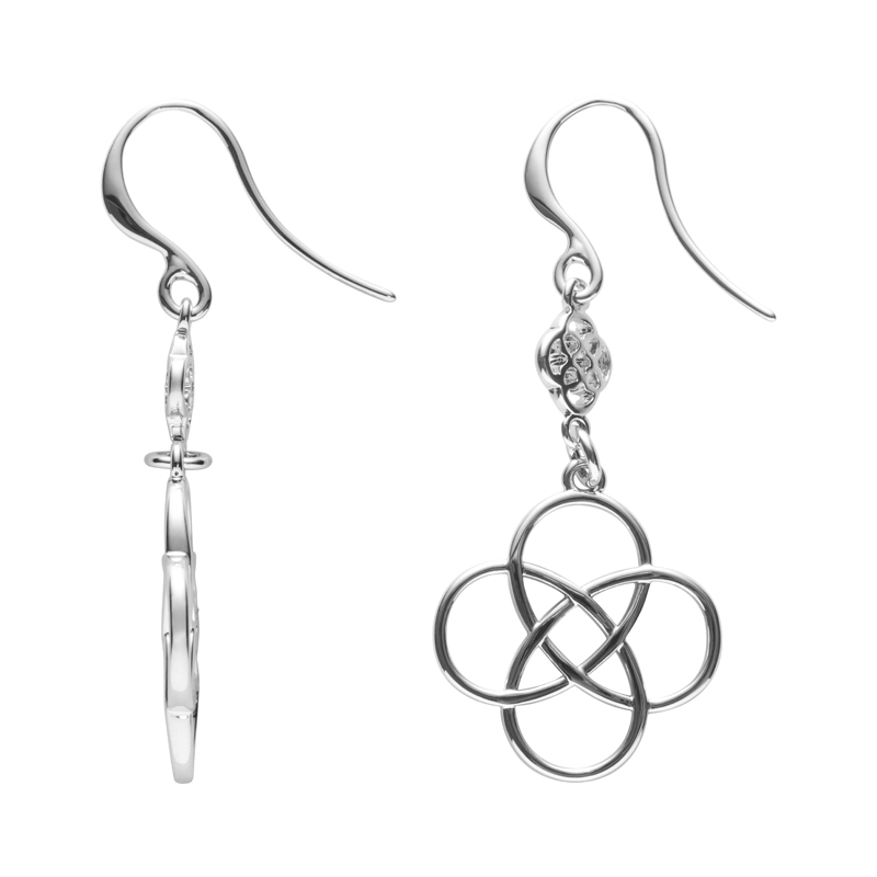 BLOSSOM OF LIFE Earrings, rhodium plated
