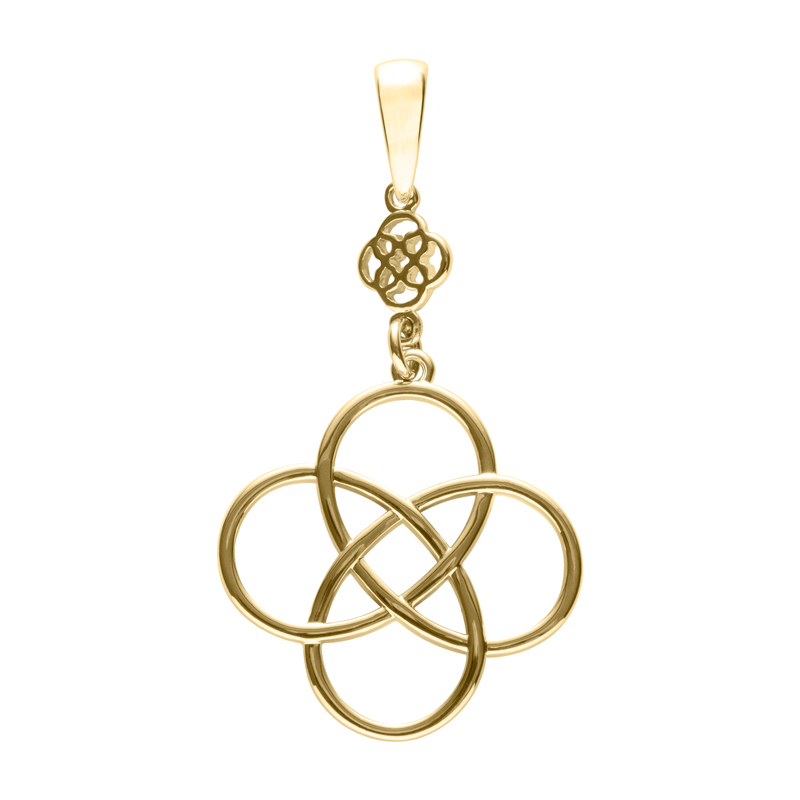 BLOSSOM OF LIFE Pendant, gold plated