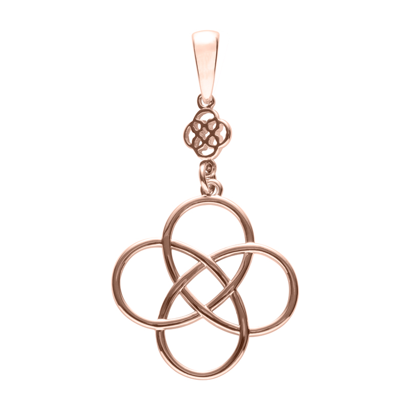 BLOSSOM OF LIFE Pendant, rose gold plated