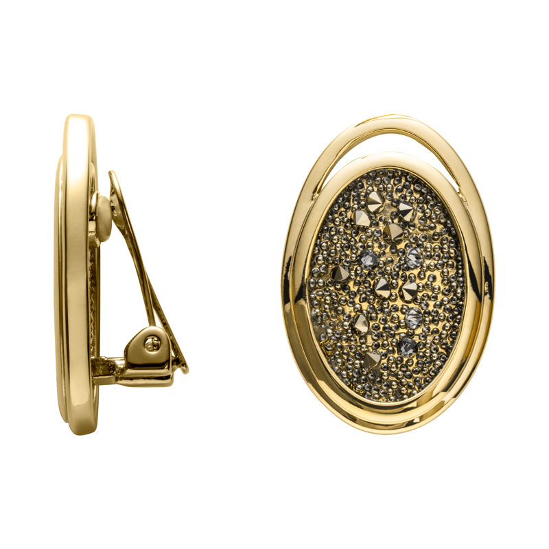 CHARMING HERITAGE Ear Clips, gold plated, metallic light gold