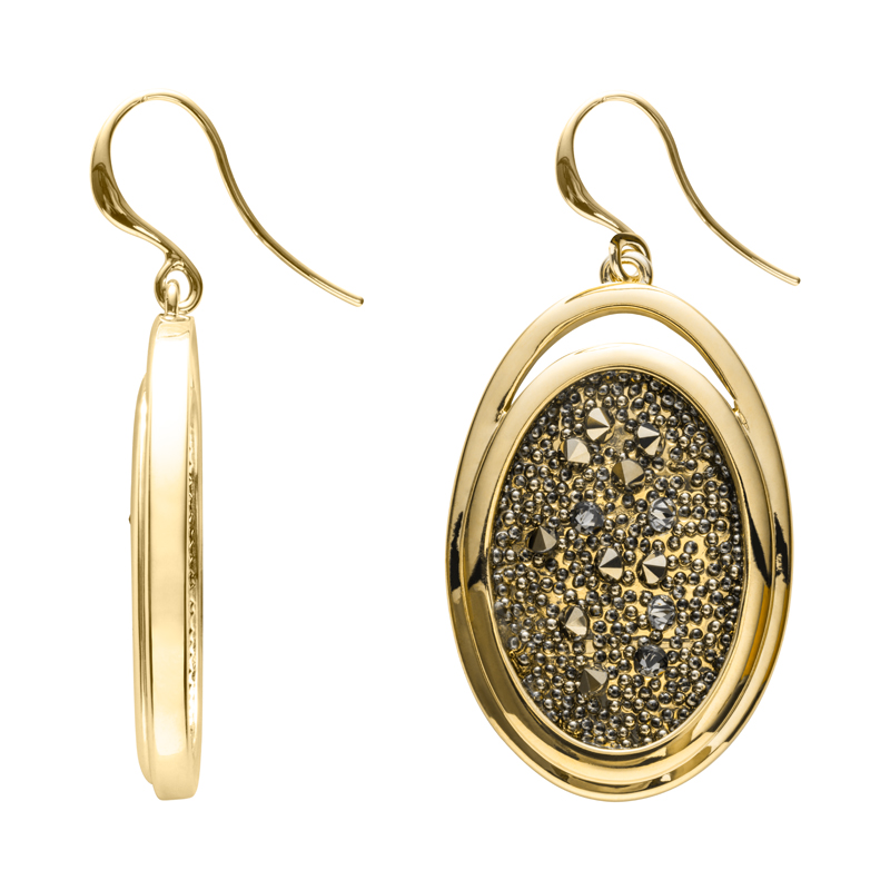 CHARMING HERITAGE Earrings, gold plated, metallic light gold