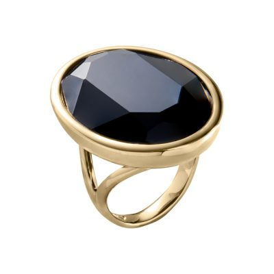 IMPÉRIALE Ring, New, gold plated, black