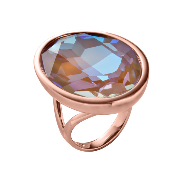 IMPÉRIALE Ring, New, rose gold plated, multi-brown