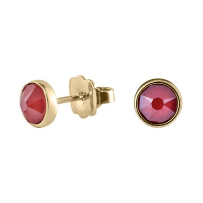BISCUITS Earrings, New, gold plated, red