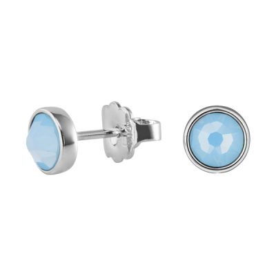BISCUITS Earrings, New, rhodium plated, light blue