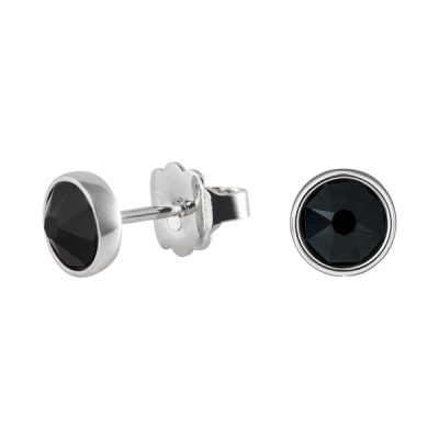 BISCUITS Earrings, New, rhodium plated, black
