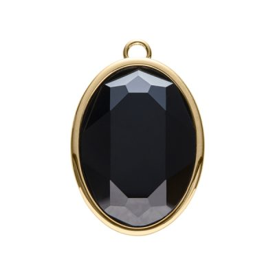 IMPÉRIALE Pendant, New, gold plated, black