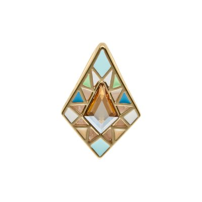 DELIGHT Pendant, New, gold plated, multicoloured, golden yellow