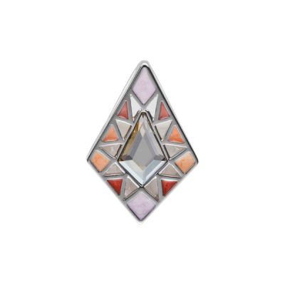 DELIGHT Pendant, New, rhodium plated, multicoloured, light grey