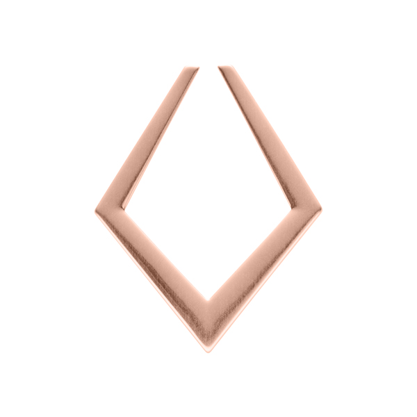 SENSE OF DELIGHT Pendant, New, rose gold plated matt