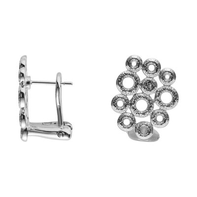 THE KISS Earrings, New, rhodium plated