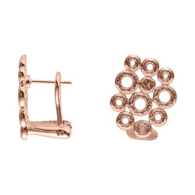 THE KISS Earrings, New, rose gold plated