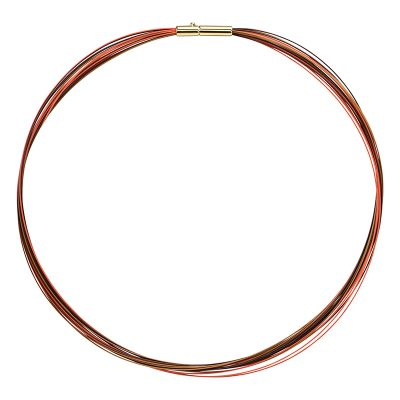 COLORE Collier, gold plated, orange, multi-brown