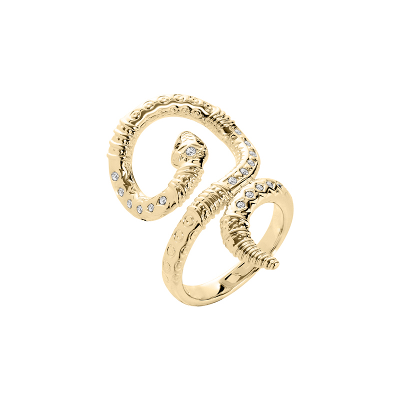 BOA Ring, gold plated