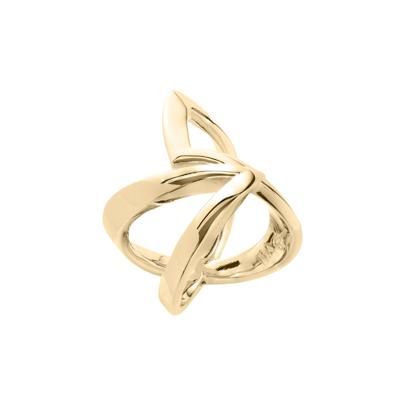 STATEMENT Ring, gold plated