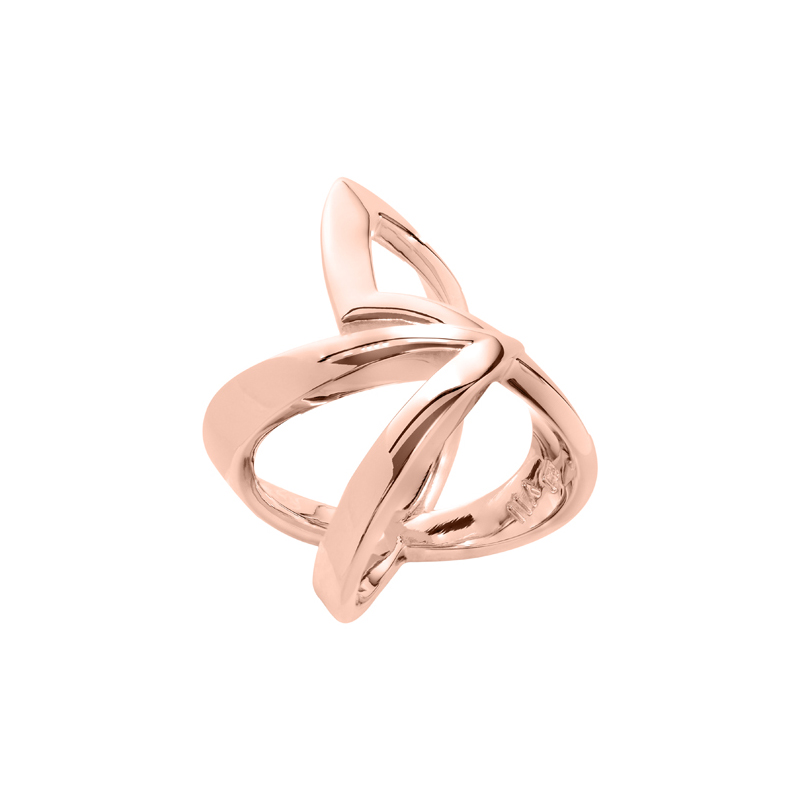 STATEMENT Ring, rosè gold plated
