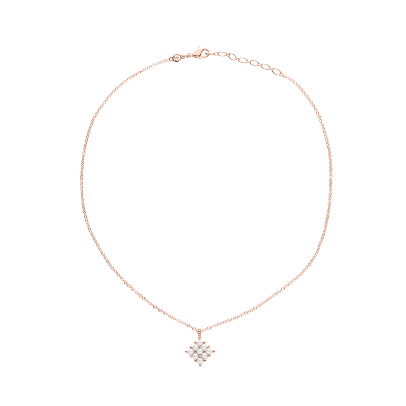 PETITE PEARL Necklace, rosè gold plated