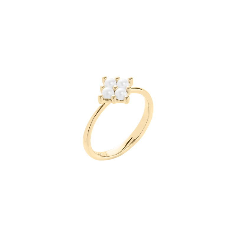 PETITE PEARL Ring, gold plated
