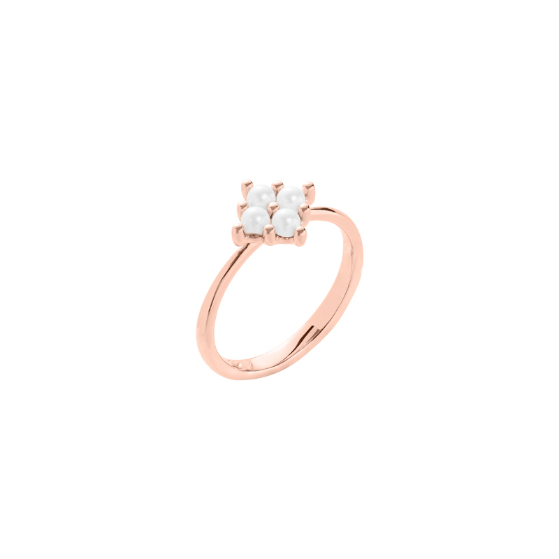 PETITE PEARL Ring, rosè gold plated