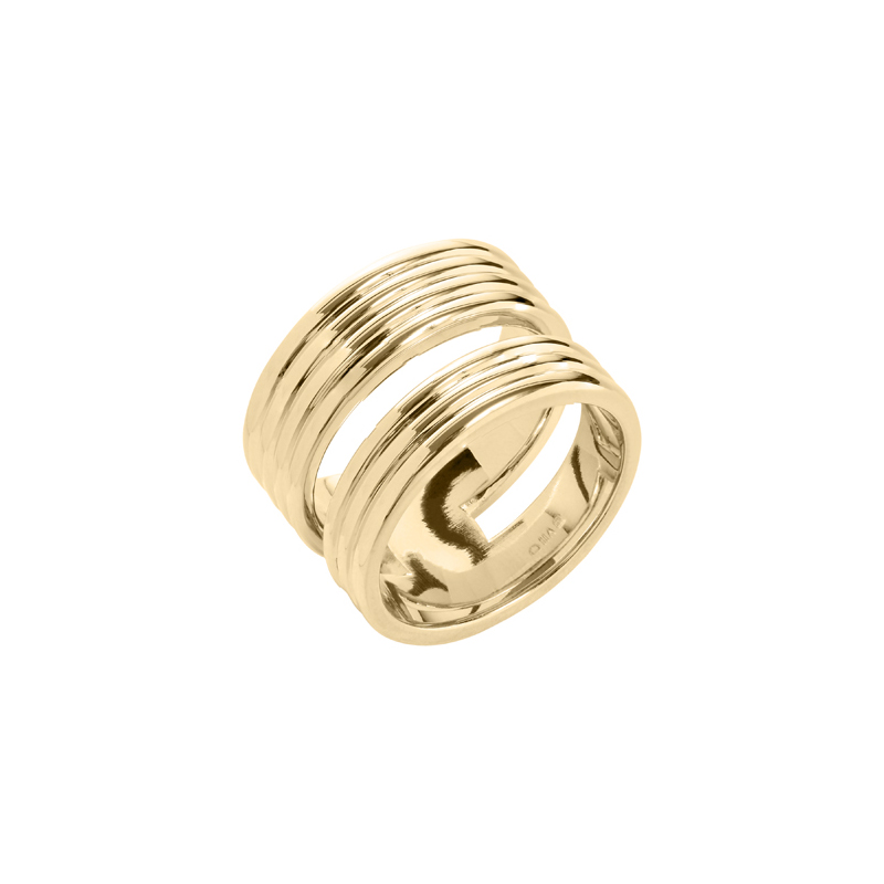 PURE LINES Ring, gold plated