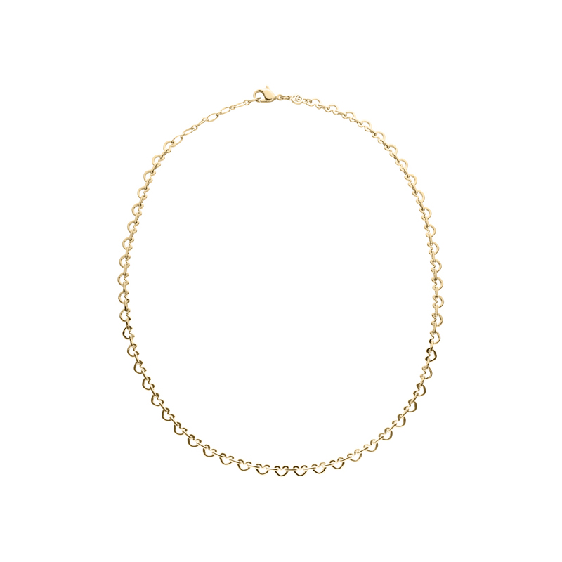LOVE&KISSES Necklace, rhodium plated