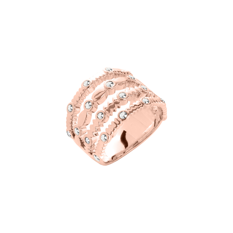 AURA Ring, rosè gold plated