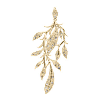 EDEN Pendant, gold plated, crystal